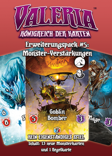 Valeria - Königreich der Karten: Erweiterungspack #5: Monster-Verstärkungen