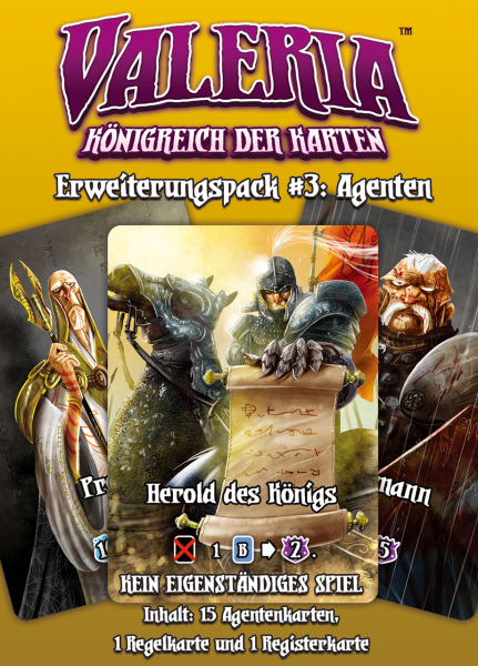 Valeria - Königreich der Karten: Erweiterungspack #3: Agenten