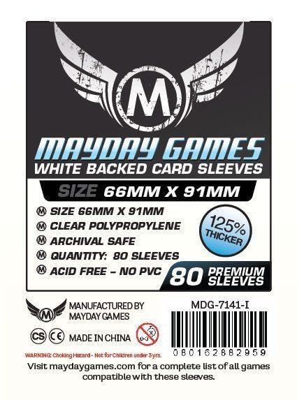 Mayday Premium White Backed Card Game Size