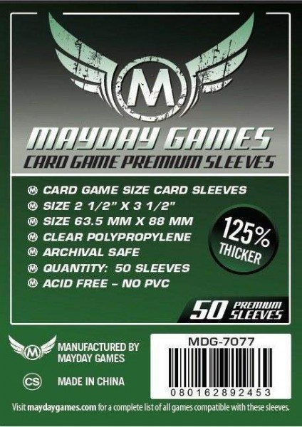 Mayday Premium Card Game Size