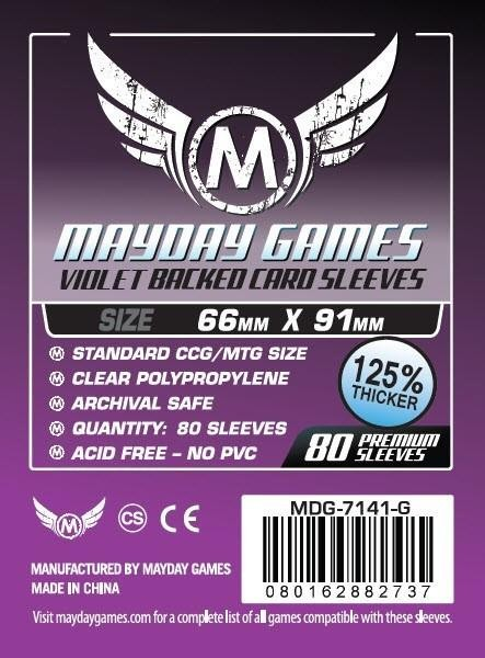 Mayday Premium Violet Backed Card Game Size