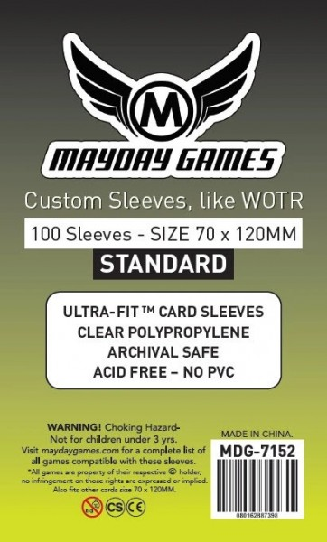 Mayday Standard 70 x 120 mm Size (100x)