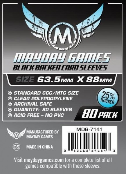 Mayday Premium Black Backed Card Game Size