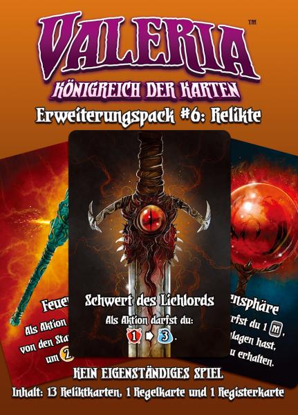 Valeria: Königreich der Karten – Erweiterungspack #6: Relikte