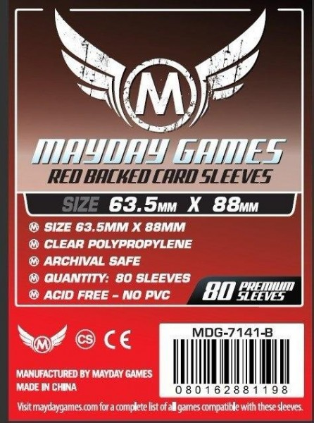 Mayday Premium Red Backed Card Game Size