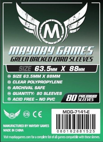 Mayday Premium Green Backed Card Game Size