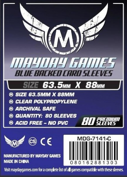 Mayday Premium Blue Backed Card Game Size