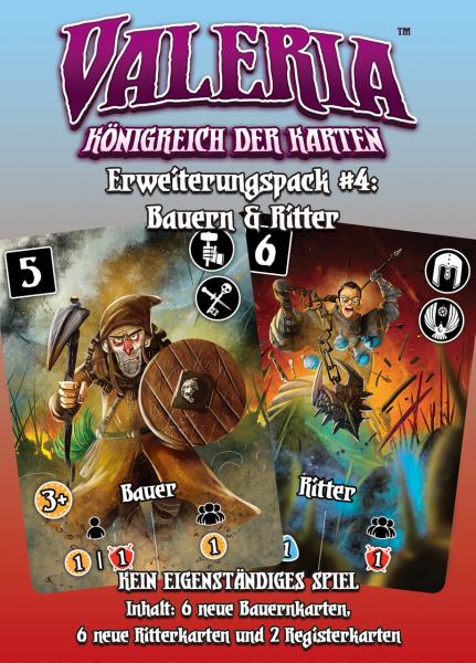 Valeria - Königreich der Karten: Erweiterungspack #4: Bauern & Ritter