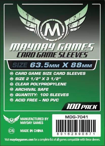 Mayday Standard Card Game Size
