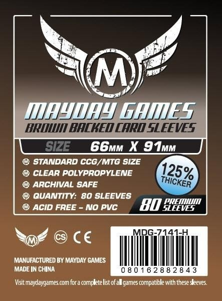 Mayday Premium Brown Backed Card Game Size