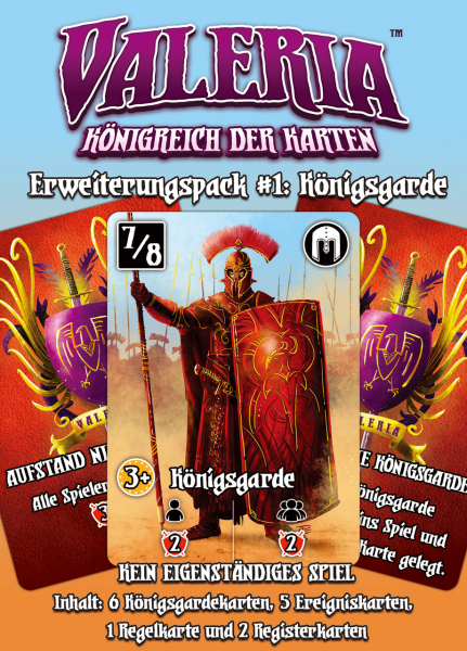 Valeria: Königreich der Karten – Erweiterungspack #1: Königsgarde