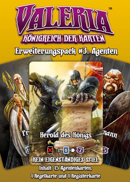 Valeria: Königreich der Karten – Erweiterungspack #3: Agenten