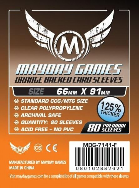 Mayday Premium Orange Backed Card Game Size